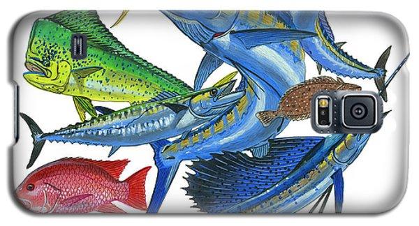 Swordfish Galaxy S5 Case - Gamefish Collage by Carey Chen