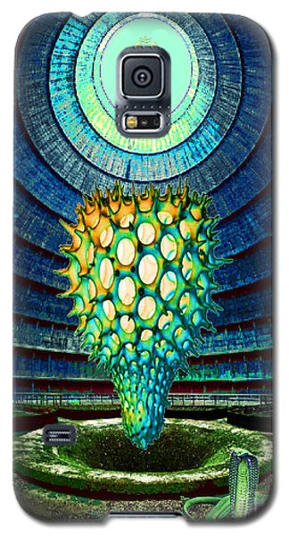 Galaxy S5 Case featuring the painting Ganesha Blessing His Fruit by Mojo Mendiola