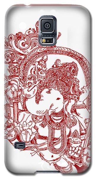 Ganesha Line Drawing Galaxy S5 Case