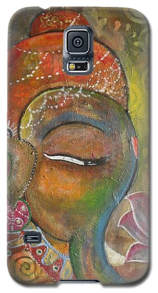 Ganesha With A Pink Lotus Galaxy S5 Case by Prerna Poojara