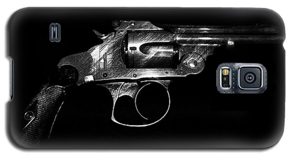 Galaxy S5 Case featuring the mixed media Gangster Gun by Daniel Hagerman