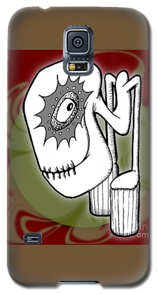 Galaxy S5 Case featuring the drawing Ganix by Uncle J's Monsters