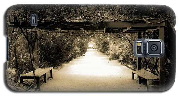 Garden Arbor In Sepia Galaxy S5 Case by DigiArt Diaries by Vicky B Fuller