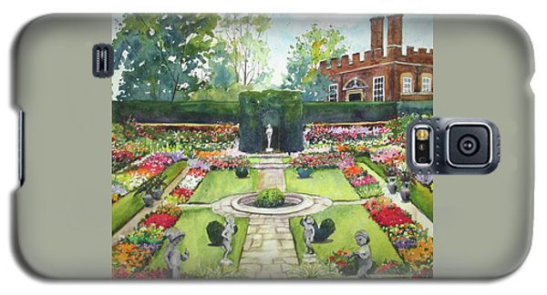 Galaxy S5 Case featuring the painting Garden At Hampton Court Palace by Susan Herbst
