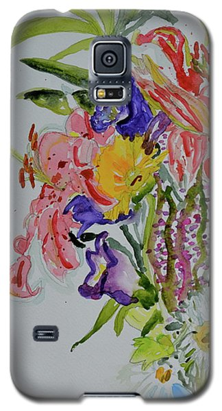 Galaxy S5 Case featuring the painting Garden Bouquet by Beverley Harper Tinsley