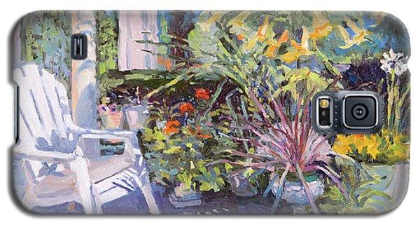 Garden Chair In The Patio Galaxy S5 Case