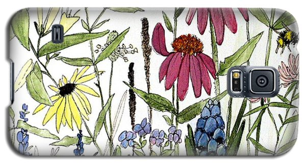 Garden Flowers With Bees Galaxy S5 Case