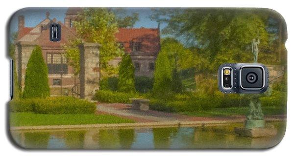 Garden Fountain At Ames Free Library Galaxy S5 Case