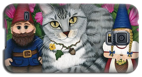 Garden Friends - Tabby Cat And Gnomes Galaxy S5 Case