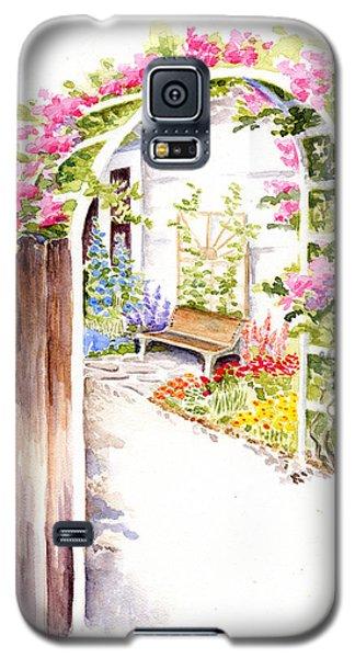 Garden Gate Botanical Landscape Galaxy S5 Case