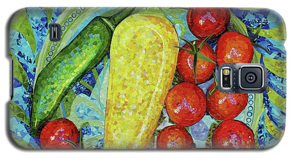 Galaxy S5 Case featuring the mixed media Garden Harvest by Shawna Rowe