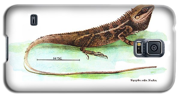 Galaxy S5 Case featuring the drawing Garden Lizard by Nguyen van Xuan