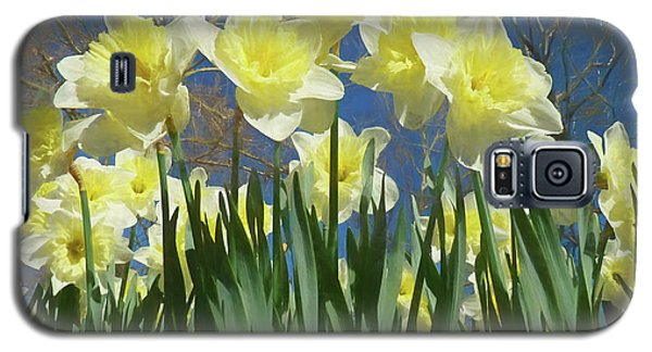 Galaxy S5 Case featuring the photograph Garden Of Daffodils by Donna Kennedy
