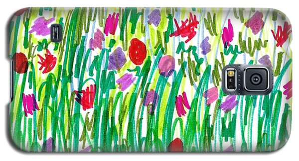 Garden Of Flowers Galaxy S5 Case