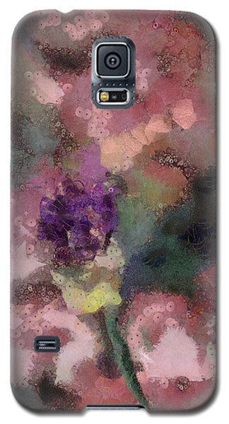 Galaxy S5 Case featuring the mixed media Garden Of Love by Trish Tritz