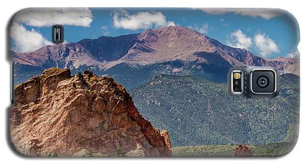 Galaxy S5 Case featuring the photograph Garden Of The Gods And Pikes Peak by Bill Gallagher