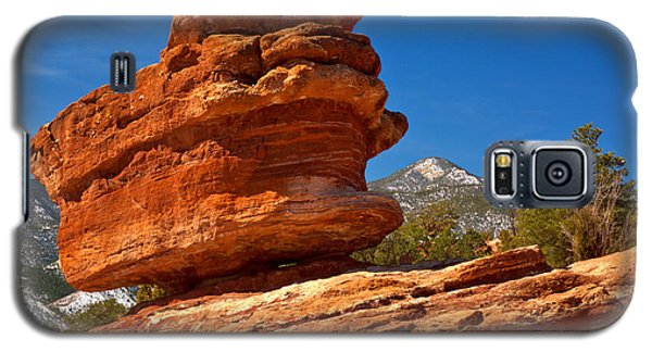 Galaxy S5 Case featuring the photograph Garden Of The Gods Balanced Rock by Adam Jewell