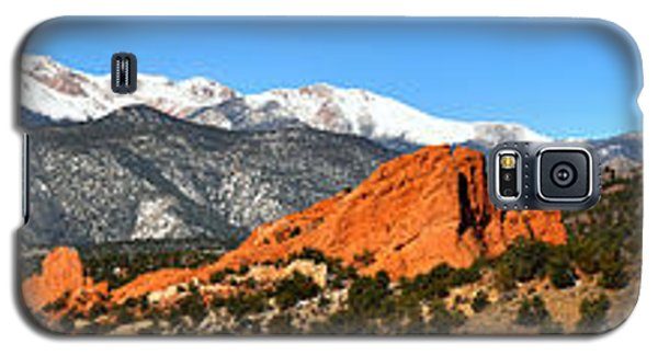 Galaxy S5 Case featuring the photograph Garden Of The Gods Extended Panorama by Adam Jewell