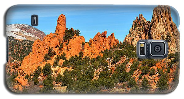 Galaxy S5 Case featuring the photograph Garden Of The Gods High Point Panorama by Adam Jewell