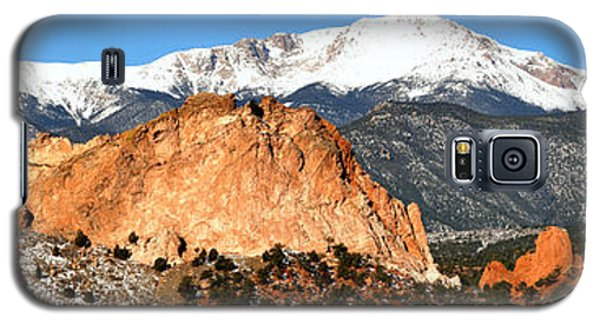 Galaxy S5 Case featuring the photograph Garden Of The Gods Medium Panorama by Adam Jewell