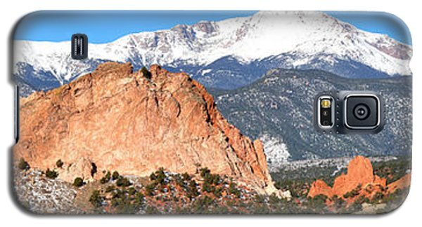 Galaxy S5 Case featuring the photograph Garden Of The Gods Panorama by Adam Jewell