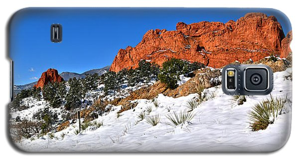 Galaxy S5 Case featuring the photograph Garden Of The Gods Red And White by Adam Jewell