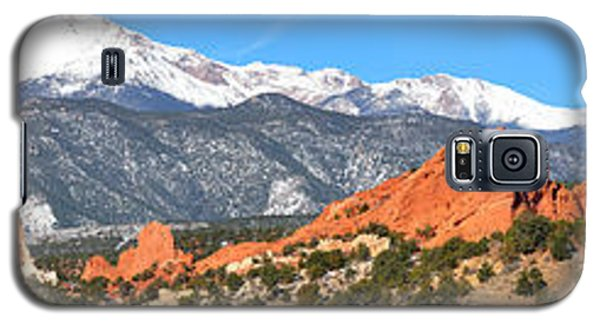 Galaxy S5 Case featuring the photograph Garden Of The Gods Red Rock Panorama by Adam Jewell