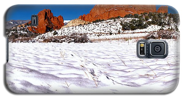 Galaxy S5 Case featuring the photograph Garden Of The Gods Snowy Morning Panorama by Adam Jewell