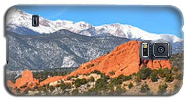Galaxy S5 Case featuring the photograph Garden Of The Gods Spring Panorama by Adam Jewell