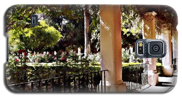Galaxy S5 Case featuring the photograph Garden Promenade - San Fernando Mission by Glenn McCarthy Art and Photography