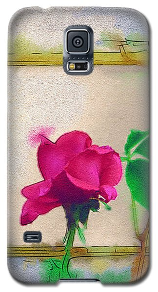 Galaxy S5 Case featuring the digital art Garden Rose by Holly Ethan