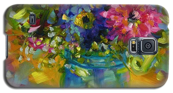 Galaxy S5 Case featuring the painting Garden Treasures by Chris Brandley