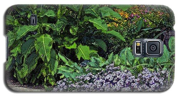 Galaxy S5 Case featuring the photograph Garden Wall by Ken Frischkorn