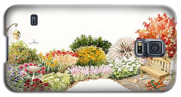 Garden Wild Flowers Watercolor Galaxy S5 Case