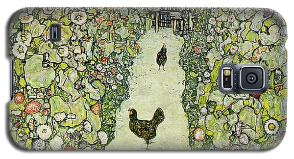 Garden With Chickens Galaxy S5 Case by Gustav Klimt