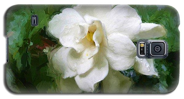 Gardenia Blossom Galaxy S5 Case by Ludwig Keck