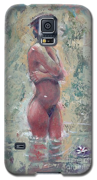 Gardenia Negra Galaxy S5 Case