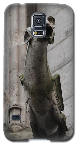 Galaxy S5 Case featuring the photograph Gargoyle Notre Dame by Christopher Kirby