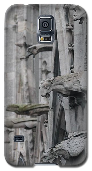 Galaxy S5 Case featuring the photograph Gargoyles North Notre Dame by Christopher Kirby