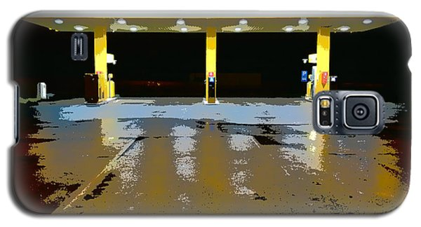 Gas Pumps At Night Galaxy S5 Case