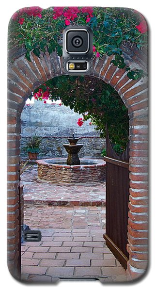 Gate To The Sacred Garden And Bell Wall Mission San Juan Capistrano California Galaxy S5 Case by Karon Melillo DeVega