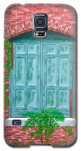 Galaxy S5 Case featuring the painting Gateway To The Past by Cynthia Morgan