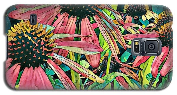 Galaxy S5 Case featuring the photograph Gathering Of Coneflowers by Diane Miller