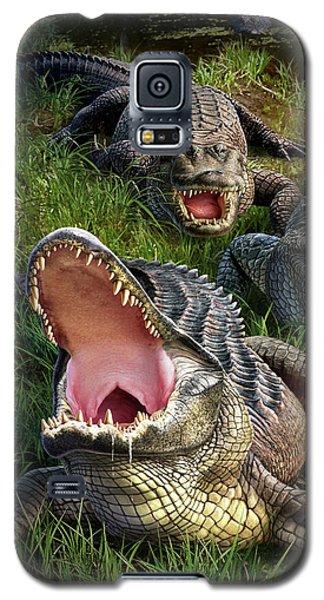 Alligator Galaxy S5 Case - Gator Aid by Jerry LoFaro