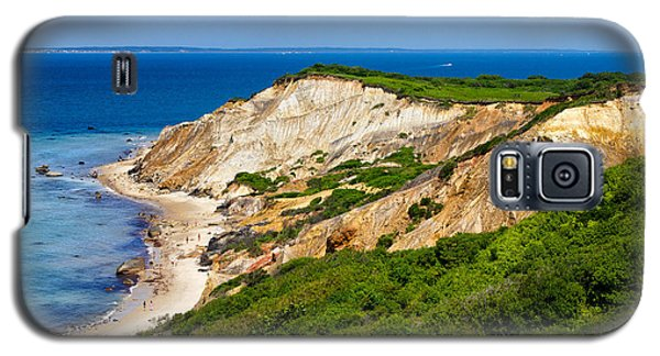 Galaxy S5 Case featuring the photograph Gay Head Cliffs by Mark Miller