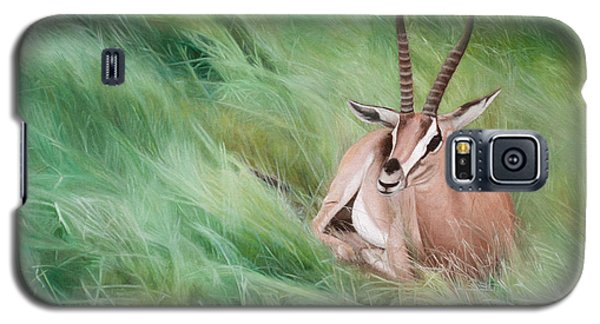 Galaxy S5 Case featuring the painting Gazelle In The Grass by Joshua Martin