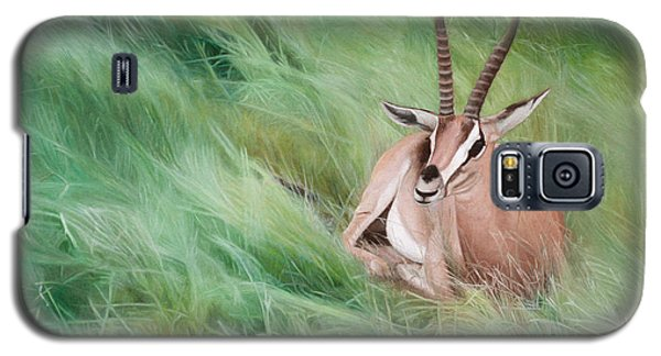 Gazelle In The Grass Galaxy S5 Case by Joshua Martin