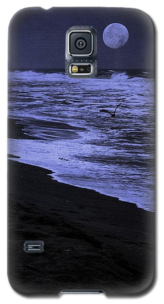 Galaxy S5 Case featuring the photograph Gazing At The Moon by Diane Schuster