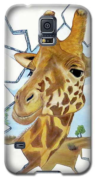 Gazing Giraffe Galaxy S5 Case