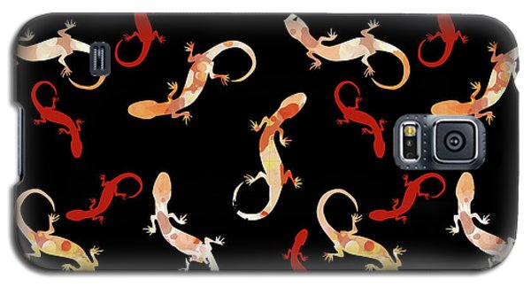 Galaxy S5 Case featuring the mixed media Gecko Pattern by Christina Rollo